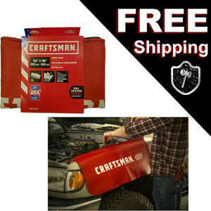 2 Pack Craftsman Red Automotive Fender Covers Made In U S A