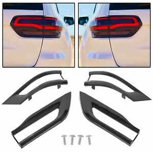 For 2014 2020 Jeep Grand Cherokee Gloss Black Tail Light Trim Bezel Kit
