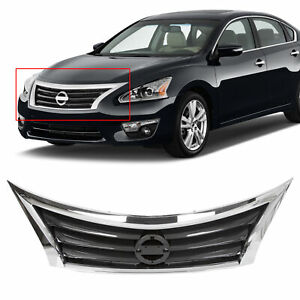 Front Bumper Grille Black Chrome Surrounding For 13 14 15 Nissan Altima