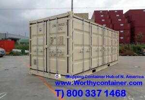 Open Side os 20 Hc New One Trip Shipping Container La Long Beach Ca