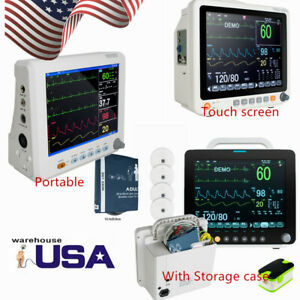 6parameter Vital Signs Patient Monitor storage Case touch Screen Cardiac System