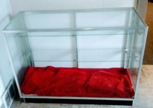 Glass Countertop Display Trophy Case Vitrine Jewelry Store Fixture Showcase Exc