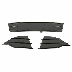 3pc Front Bumper Lower Glossy Black Grills Fog Covers For Ford Escape 2013 2016