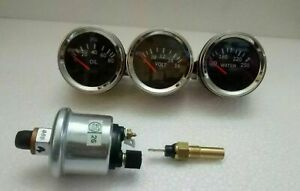 Electrical Gauges Set Volt Gauge Temp Gauge Oil Pressure Gauge With Sender