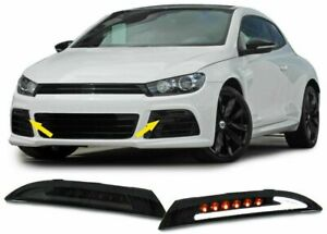 Black Smoked Led Bar Turn Side Lights Set For Vw Scirocco Iii Type 13 From 08