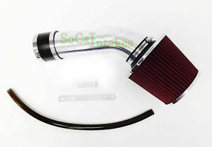 Black 1pc Red Air Intake Kit Filter System For 2004 2008 Acura Tl 3 2l V6