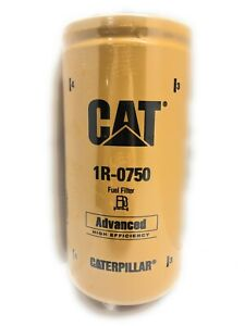 12 Pack Of New And Genuine Cat 1r 0750 Fuel Filter Caterpillar 1r0750 Free Ship