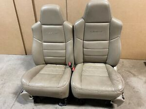 Ford F250 F350 Fx4 Super Duty Front Bucket Leather Heated Seats Lariat