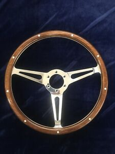 14 Classic Real Riveted Wood Steering Wheel