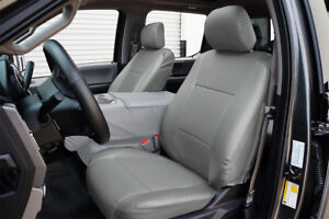 Ford F 150 2009 2014 Grey S Leather Custom Made Fit Front Seat Cover