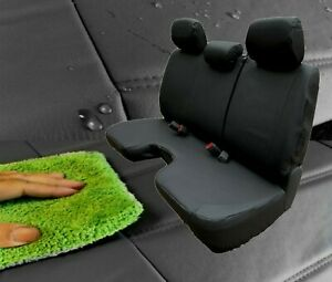 Black 100 Waterproof Bench Seat Cover Large Notched Cushion 3 Adj H r Exact Fit