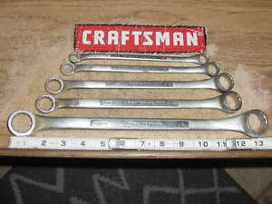 Craftsman v Series 5 Piece 12 Point Sae Deep Offset Box Wrench Set Made In Usa