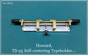 Howard Machine Personalizer ts 95 Selfcentering Typeholder Hot Foil Stamping