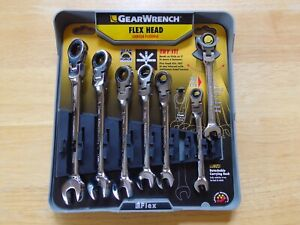 Gearwrench 7 piece Flex Head Ratcheting Combination Wrench Set metric