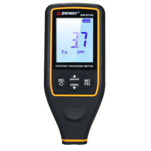 Sndway Digital Paint Coating Thickness Gauge Handheld Coatings Thickness H6t9