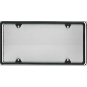Plain Chrome Metal License Plate Frame Kit Free Screw Caps With This Frame