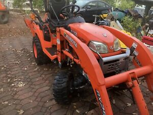 2013 Kubota Bx25d 4x4 Hydro Compact Tractor Loader Backhoe Low Hours 50 Hours