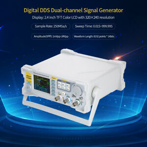 60mhz Lcd Dual channel Arbitrary Dds Signal Generator Pulse Signal Source A7s3