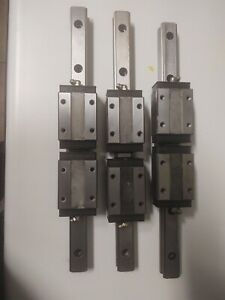 2 Thk Linear Rails 350mm With 4 Thk Hsr25 Bearing