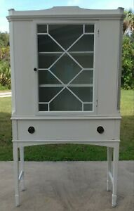 Antique Cabinet Painted White
