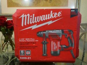 Milwaukee Corded 1 1 8 In Sds plus Rotary Hammer Drill 5268 21