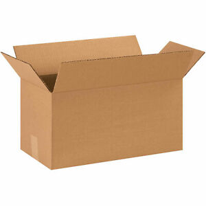 18 X 9 X 9 Long Cardboard Corrugated Boxes 65 Lbs Capacity 200 ect 32 Lot