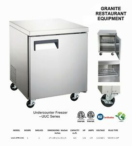 Under Counter Commercial Cooler Refrigerator 27 Single Door Nib