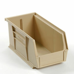 Stackable Storage Bin 5 1 2 X 10 7 8 X 5 Beige Lot Of 12