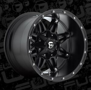 18x12 Fuel D531 Hostage 8x170 Et 44 Matte Black Rims Set Of 4