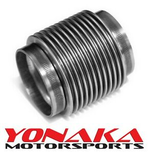 Yonaka 3 Id Slip Fit T304 Polished Stainless Steel Exhaust Bellow