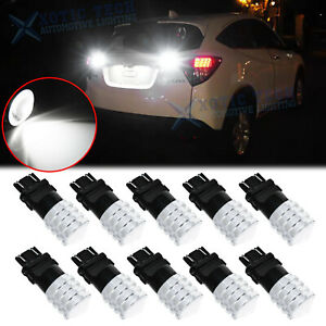 10x White 3157 Projector Len Led Tail Brake Stop Light Bulbs T25 3057 3457 4157