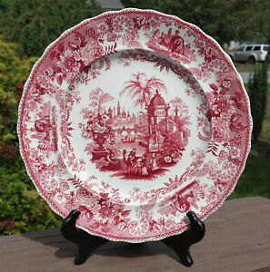 Antique Transferware Pearlware Staffordshire Plate Dillon Asiatic Views Camels