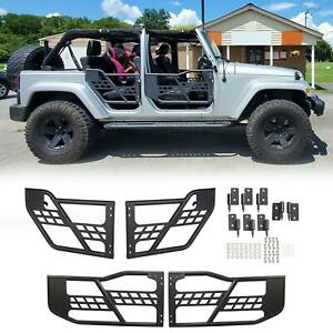 For 07 18 Jeep Wrangler Jk Front Rear 4 Door Steel Tube Door Black Left