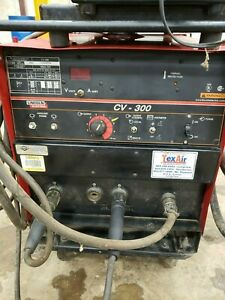 Lincoln Idealarc Cv 300 Mig Welder With Lf 72 Feeder And Cart