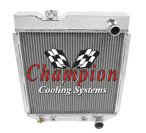 2 Row 1 Tubes Rockin Champion Radiator For 1964 65 1966 Ford Mustang V8 Engine