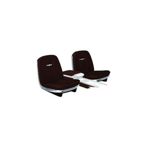 1965 Ford Thunderbird Vinyl Front Bucket Seat Covers For Cars Without Reclining