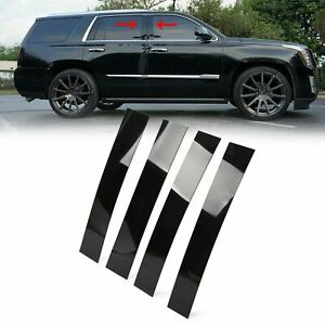 Black Pillar Posts For Cadillac Escalade 07 14 4pc Set Door Trim Cover Kit