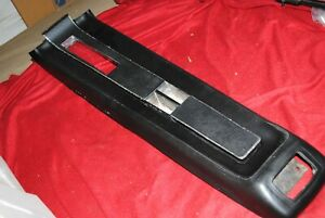 68 Mustang Console Padded Top Plate Complete Original Ford Black 1968 Automatic