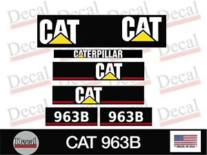 Cat 963 B Decal Kit Vinyl Graphics Decal Heavy Equipment Stickers