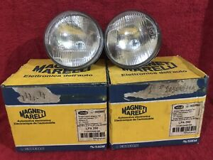 Pair Headlamp Magnet Marelli Carello Lpa250 H1 Ritmo 712033488169 Nos Oem