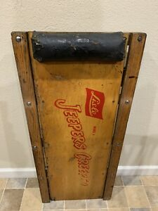 Extremely Rare Vintage Lisle Jeepers Creeper Wooden Auto Creeper
