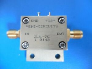 Mini circuits Zjl 7g 20 To 7000 Mhz 50 Low Power Coaxial Amplifier