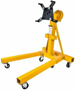 Jegs 80102 Folding Engine Stand W Geared Rotating Head 1500 Lb Capacity Folds