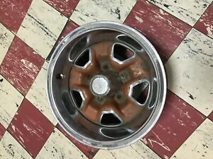 1969 72 Oldsmobile Oem 14x7 Rally Wheel Cutlass 442 Bolt On Cap 70 71 Ssii