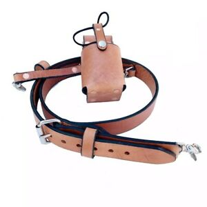 Firefighter Leather Radio Strap Combo