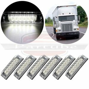 6x Led 8 White Side Marker Tail Indicator Light For Pickup Truck Lorry Boat