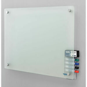 36 w X 24 h Frosted Glass Dry Erase Board With Markers Eraser