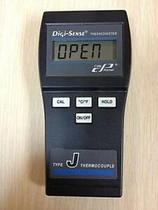 Cole Parmer 91100 00 Digi sense Digital Thermometer Type J Thermocouple