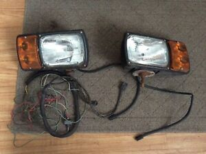 Dominion Auto Snow Plow Lights 4 Wire Headlight Western Meyer Fisher Boss