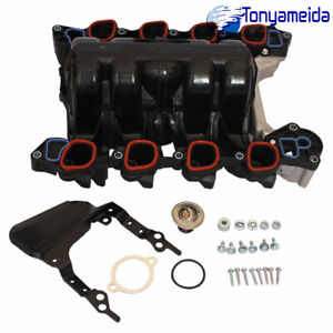 Intake Manifold W Thermostat Gaskets Kit New For Lincoln Ford Mercury 4 6l V8